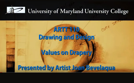 Art Course Demonstration Video: Drawing Drapery